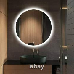 24in Vanity Bathroom Mirror with Touch Dimmable LED Light Antifog Wall Mounted US