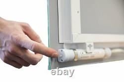 2 x Battery Operated LED Illuminated Bathroom Mirrors IP44 No Wiring Required