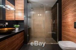 30W x 72H Glass Shower Door Hinged Frameless with Chrome Finish
