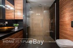 36W x 72H Glass Shower Door Hinged Frameless with Chrome Finish