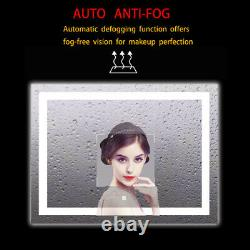 36x28 in LED LLighted Bathroom Wall Mounted Mirror Anti Fog Smart Touch Button