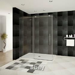 44-48W x 76H x 36D Shower Enclosure ULTRA-C Brushed Nickel by LessCare