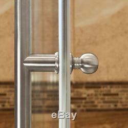 56-60Wx62H Bathtub Door ULTRA-D Brushed Nickel by LessCare