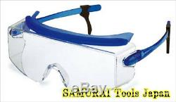 5pcs Safety Glasses, Dust Ploof and fits well, SN-737-BLU, YAMAMOTO, JAPAN