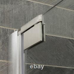63-65Wx72H Pivot Shower Door ULTRA-G Brushed Nickel by LessCare
