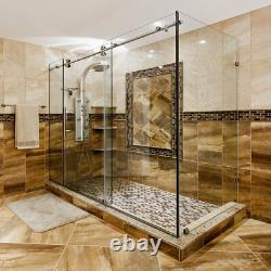 68-72W x 79H x 34 1/2D Shower Enclosure ULTRA-D Brushed Nickel by LessCare