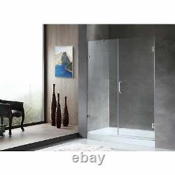 ANZZI Consort 60 x 72 Frameless Hinged Alcove Shower Door Clear
