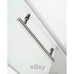 Aston Frameless Hinged Shower Door Fixed Panel Clear Glass Polished Chrome