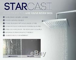 Aston Madox Frameless Pivot-Hinged Shower Door with StarCast Clear Glass, 42