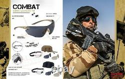 Bolle Tactical Spectacles COMBAT Kit Safety Ballistic Military Airsoft Glasses