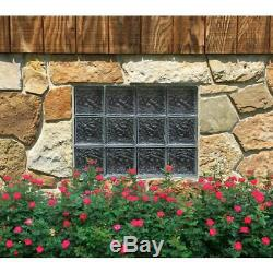 Clearly Secure Glass Block Window Frameless Ice Pattern Non Vented Home Privacy
