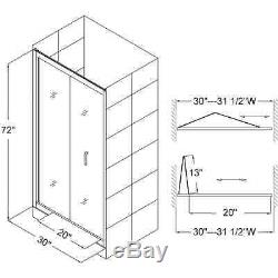 DREAMLINE BUTTERFLY 32 x 72 SHOWER DOOR AND 32x32 ACRYLIC SHOWER BASE COMBO
