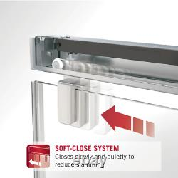 Delta 48 in to 60 in Frameless Mod Soft-Close Sliding Tub Door Track Assembly