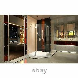 DreamLine 6050-01 Prism Lux 36 Fully Neo-Angle Shower Enclosure, Chrome, Base