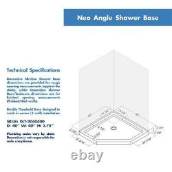 DreamLine 6052-88-01 Prism Lux 40 Neo-Angle Shower Enclosure with Black Base