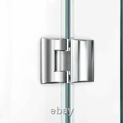 DreamLine 6053-88-01 Prism Lux 42 Neo-Angle Shower Enclosure with Black Base
