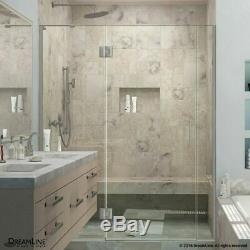 DreamLine D3301472R-01 Chrome Hinged Shower Door with Clear Glass, Right Wall