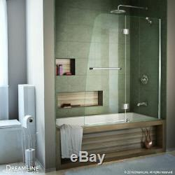 DreamLine SHDR-3148586-01 Chrome Hinged Tub Door with Clear Glass