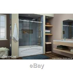 Dreamline Enigma Air 56-60 X 62 Sliding Tub Door, 3/8 Clear Glass/brushed
