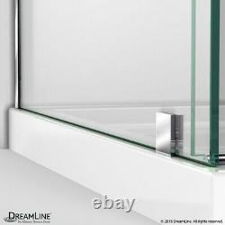 Enigma Air 34 3/4 D x 48 3/8 W x 76 in. H Frameless Sliding Shower Enclosure