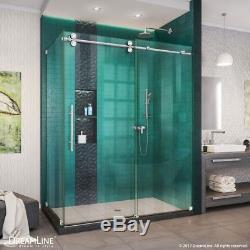 Enigma-XO 32 1/2 or 34 1/2 D x 50-54 W x 76 H Frameless Shower Enclosure