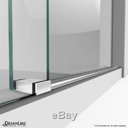 Enigma-XO 34 1/2 in. D x 44 3/8-48 3/8 in. W x 76 H Frameless Shower Enclosure