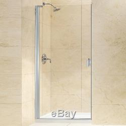 Fab Glass and Mirror Classic Frameless Single Swing Enclosure Clear Glass Chrome