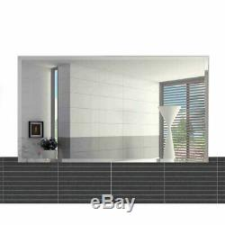 Fab Glass and Mirror Frameless Rectangle Beveled Wall Mirror