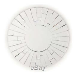 Fab Glass and Mirror WIND CHIMES Round Contemporary Mirror for Wall Decoration