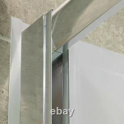 Infinity-Z 44-48 Sliding Shower Door, Clear Glass, Chrome or Brushed Nickel