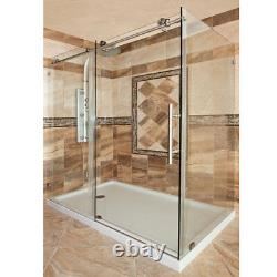 LBSEC34576-CB Shower Enclosure Glass Side Panel Only (No Door)
