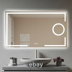 LED Illuminated Backlit Mirror Vanity Wall Mirror with Touch Switch for Bathroom