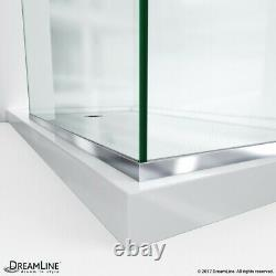 Linea Two Individual Frameless Shower Screens 30 W x 72 H each, Open Entry Design