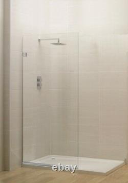 Milan Stationary Panel Shower Screen 24x76 Inch Clear Glass, Oil Rubbed Bronze
