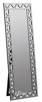 NEW LARGE 68 VENETIAN ETCH ENGRAVE FRAMELESS RECTANGLE DRESSING STANDING Mirror