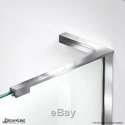 Prism-X Neo Angle Frameless Hinged Shower Enclosure 40 x 40, 3/8 Glass