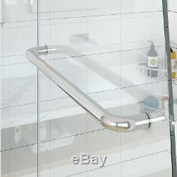 SUNNY SHOWER Frameless Pivot Tub Doors 48 in. With 5/16 in. Clear Glass, Chrome