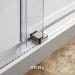 Sliding Shower Door and Enclosure with Stationary Panel 44-48W 76H Ultra C Chrom