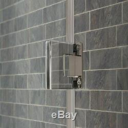 Swing-Out Shower Door with Stationary Panel 48-49W 72H Ultra E Brushed Nickel