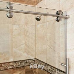ULTRA-D Chrome and Glass Shower Enclosure with Sliding Door Clear