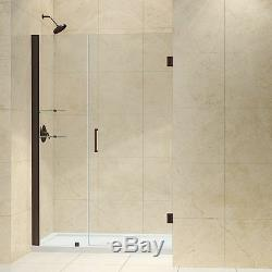 Unidoor 44 45 X 72 Dreamline Frameless Shower Door 3/8 Oil Rubbed Bronze