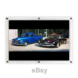 WILKOCO Large 27x39inch Frameless Floating Wall Mount Picture Frame, Photos