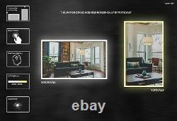 Yukon CRYSTAL-40x24 Rectangle LED wall mounted mirror with Touchless Control